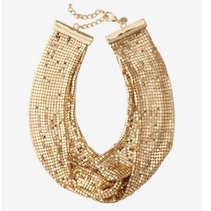 Express Gold Mesh Knot Necklace New